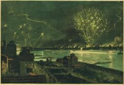 Kiel - Feuerwerk am 20.6.1895