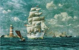 Kiel - Hafeneinfahrt 1893