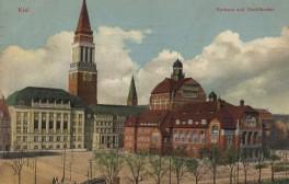 Kiel - Rathaus und Theater