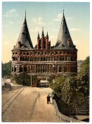 Luebeck - Holstentor 1895