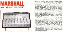 Marshall 2030 - 100 Watt Mixer