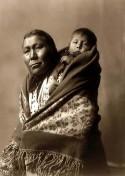 Hidatsa-Mutter-Kind